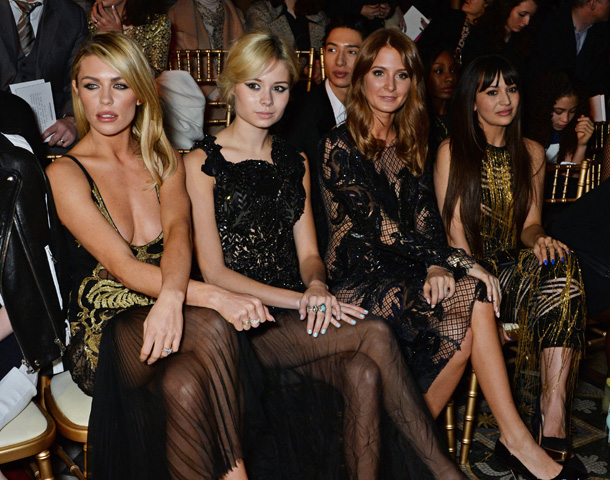 18d90340ffb08 All eyes on Abbey Clancy at Julien Macdonald show at London Fashion Week