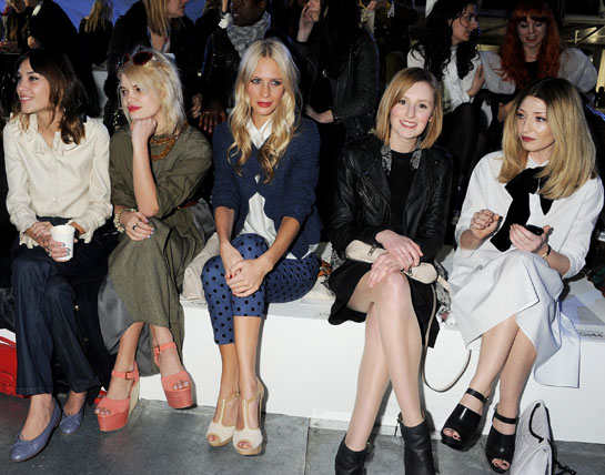 English roses fill up front row at Topshop's pyjama party