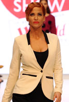 Sarah Harding shows off new ginger tresses on modelling debut