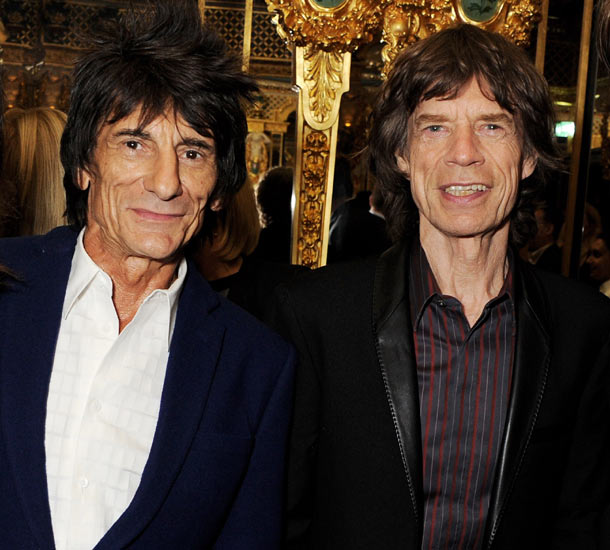 London Fashion Week Mick Jagger And Ronnie Wood Attend