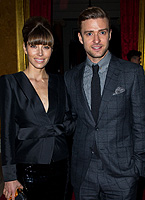 Stylish newlyweds Justin Timberlake and Jessica Biel at LFW