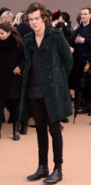 Harry Styles hits the star-studded Burberry front row