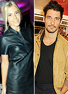 Mollie King and her ex-boyfriend David Gandy cross paths on LFW night out