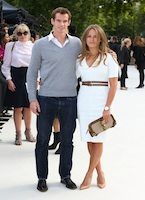 Fashion world courts Andy Murray and his girl Kim