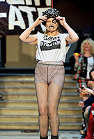 Vivienne Westwood, 71, in hot pants to call for a green revolution