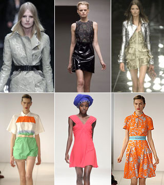 Neon prints and lashings of leather: top trends for spring